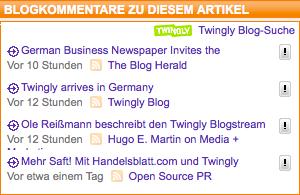 Twingly Kommentarbacklinks bei Handelsblatt.com