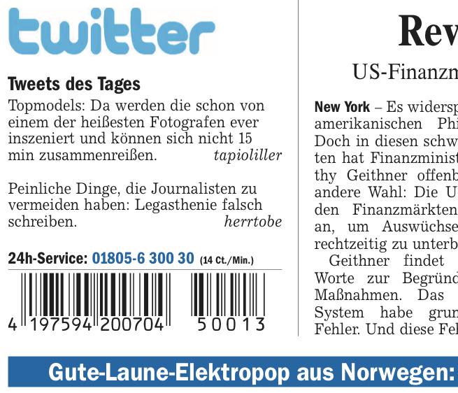 "Welt kompakt ""paper re-tweet"""