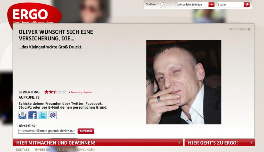Screenshot von millionen-gruende.de